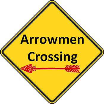 Arrowmen crossing sign